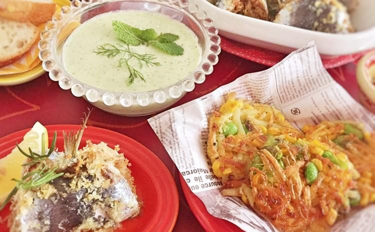 イワシを1人1尾捌いてベッカフィーコに♪旬野菜と美肌スープで夏美人!