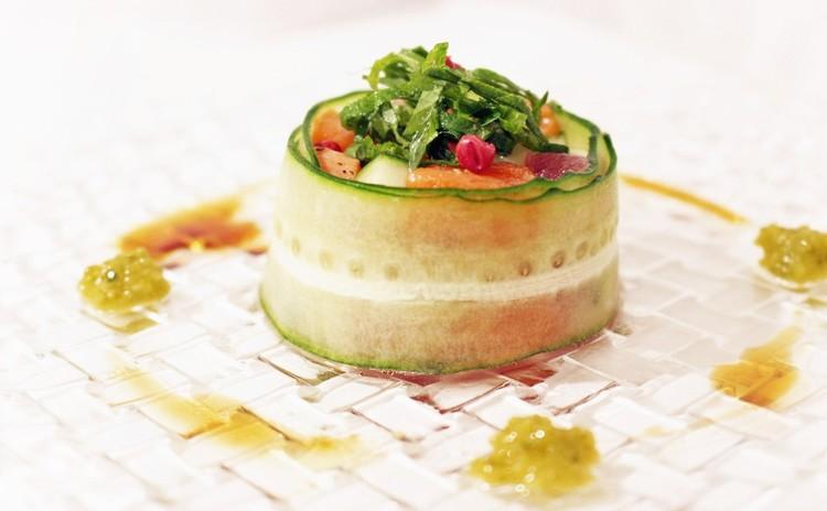 魚介と野菜のカルパッチョサラダ~柚子こしょう添え