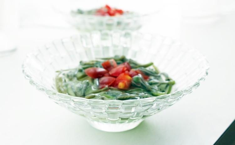 枝豆とうふ~夏の野菜あんを添えて