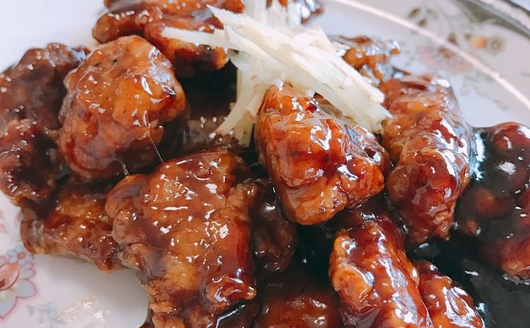 夏はさっぱり★黒酢酢豚、あんかけ焼きそば、マンゴープリン