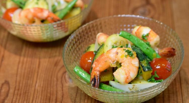 えびと夏野菜のマリネサラダ ハーブ&レモン