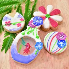 8月の1Dayクラス〜朝顔と金魚の涼しげクッキー〜