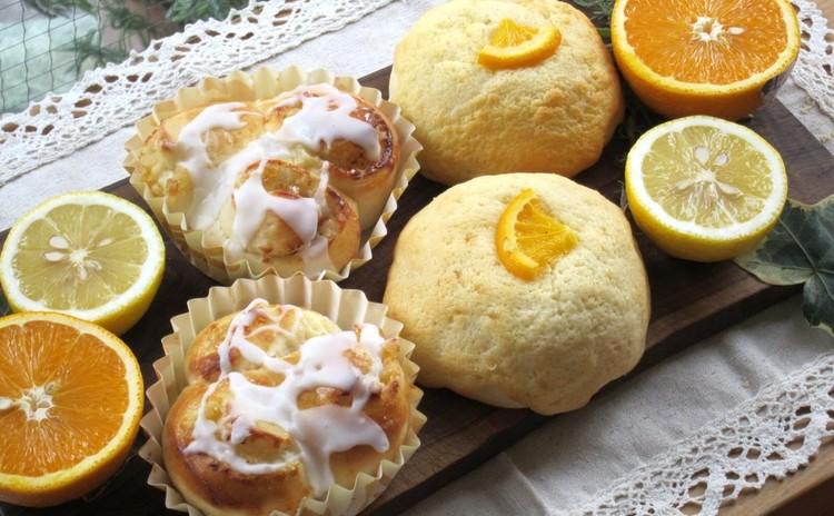 オレンジとレモンが香る、爽やか夏のおやつパン2種!ホシノ天然酵母で。