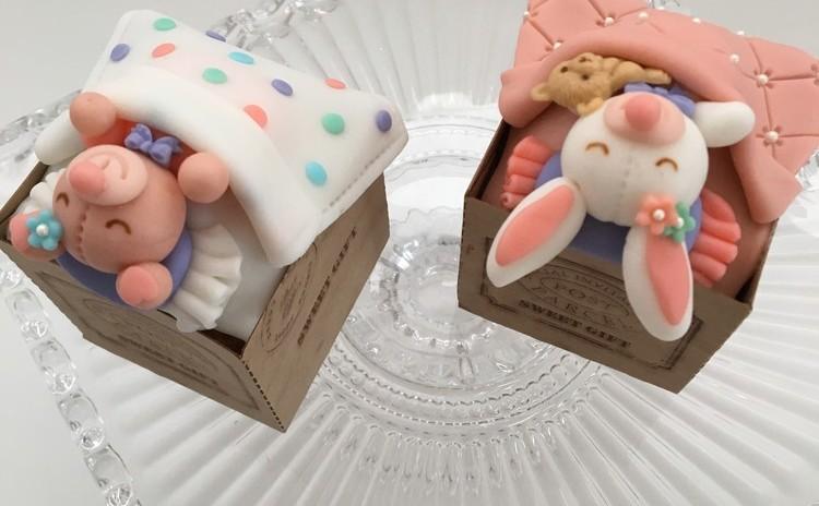 寝んねくまさん&うさちゃんデコカップケーキBOX