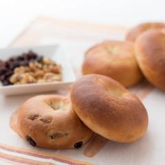 【2種のパン作り】2種のベーグル&ポンデバジル♡