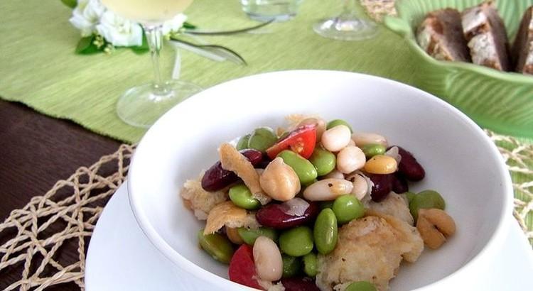 ひよこ豆とトマトのパンツァネッラ