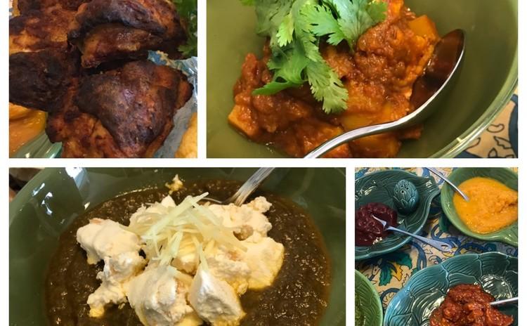 今年のカレーはインド料理で! 海老のクリーミーカレー・ほうれん草カレー