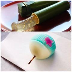 8月の和菓子レッスン♪「青竹筒のすだち羹」と「うちわの練り切り」