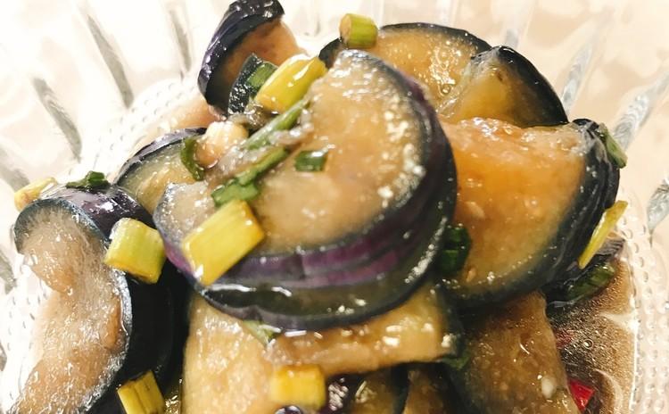 揚げ茄子の葱ソース