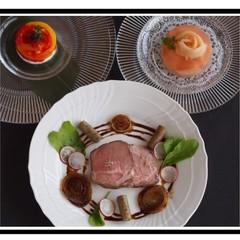 【本格派☆夏フレンチ】『塊肉から作る!豚肉のコンフィ』全3品レッスン