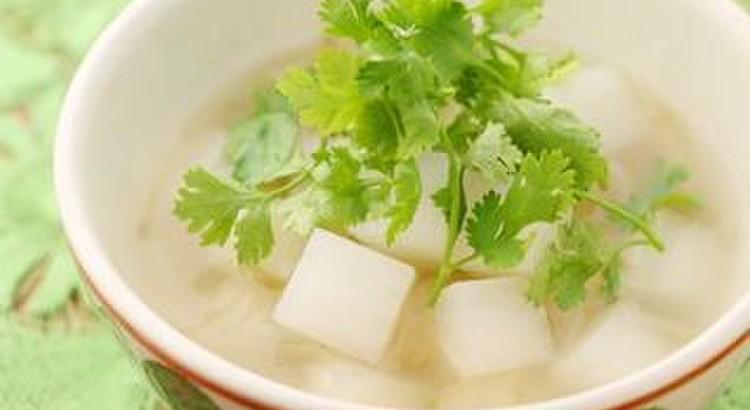 豆腐とザーサイのさっぱりスープ