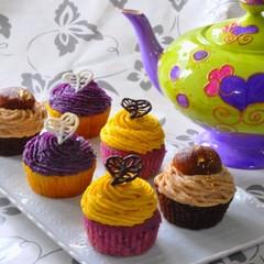 日程追加!ハロウィンにぴったり♪~3種のモンブランカップケーキ~