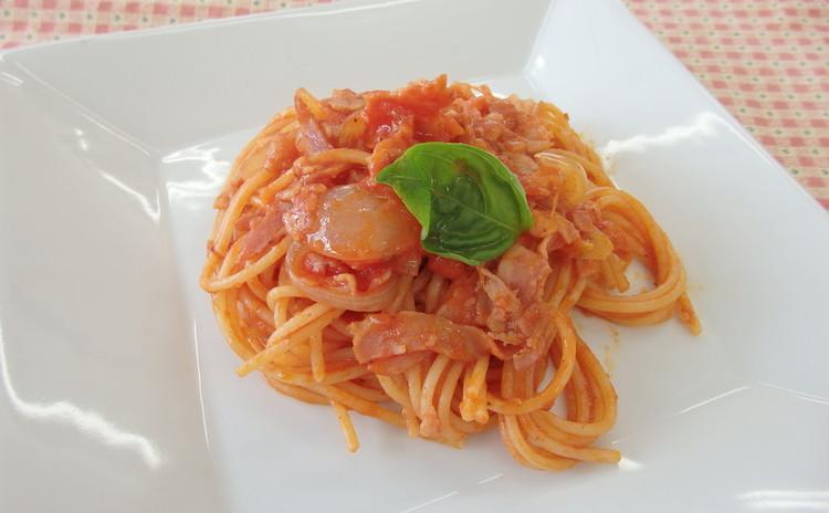 アマトリチャーナスパゲッティ