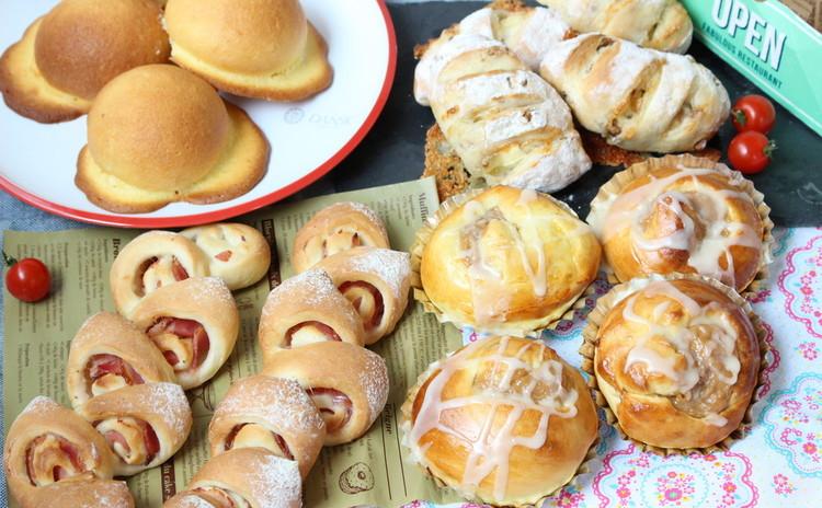 作りたいパンが選べるのがうれしい 4種類のパン②スイートブール エピ