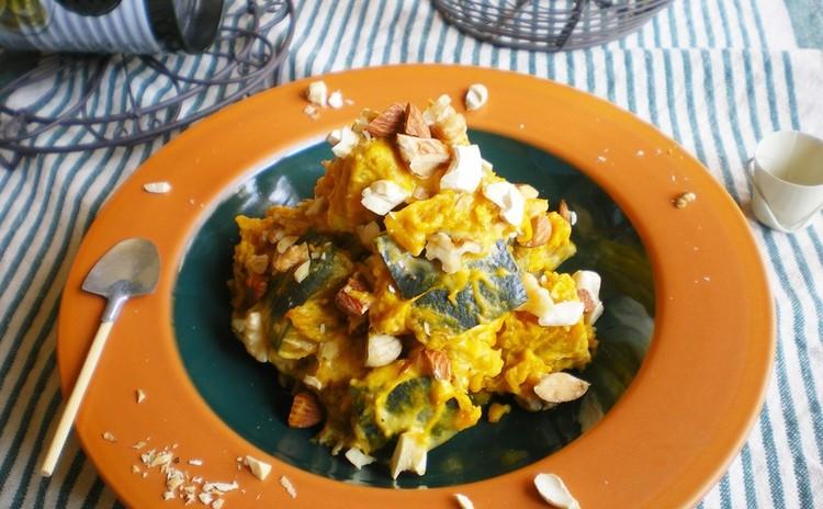 カボチャ&ナッツのヨーグルトサラダ