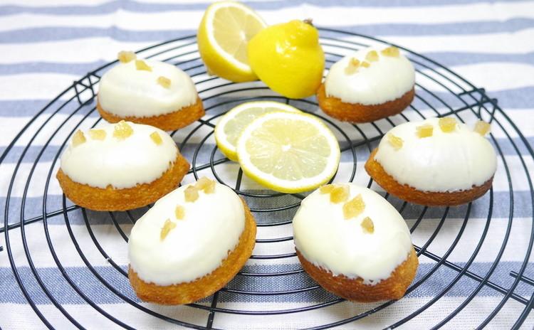 ころんと可愛いレモンケーキ&もものブランマンジェ