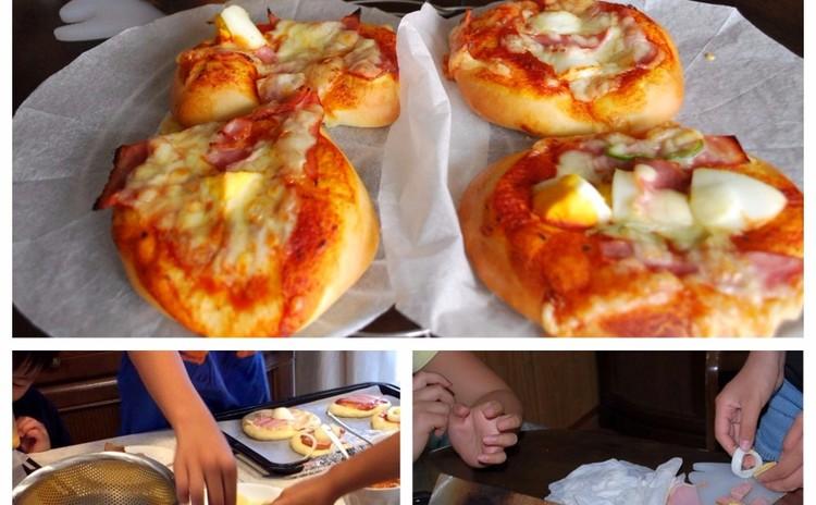 夏休み親子パン教室★手ごねdeピザパンを作ろう♪
