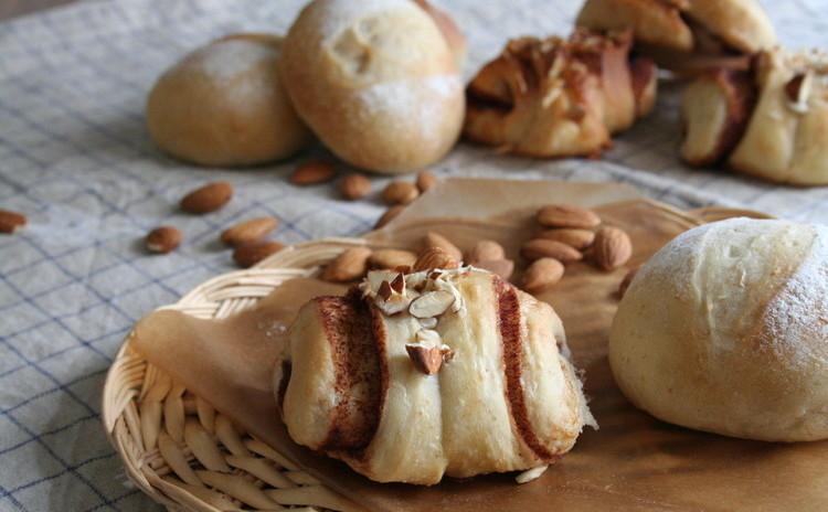 自家製酵母パン!北欧風シナモンロール&丸パン