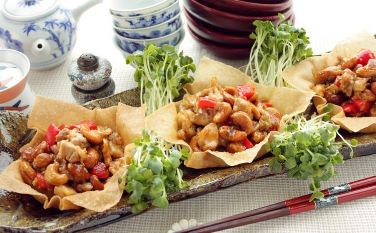 鶏肉とカシューナッツの炒め チャイナバスケット詰め