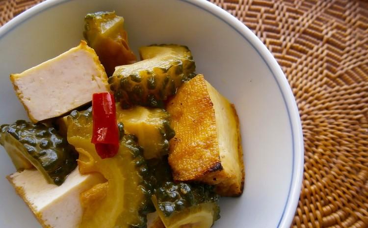 鮭と夏野菜の焼き浸し、ゴーヤの揚げ浸し、ナス・カボチャの蒸し浸し
