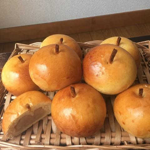 りんごクリームパン