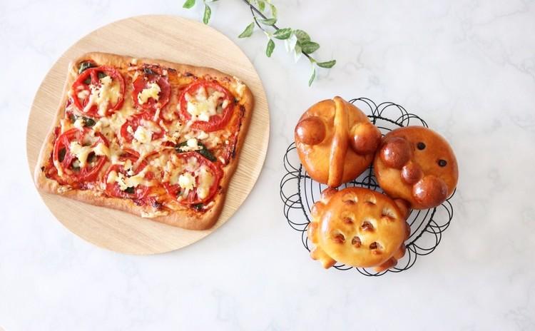 【親子パン教室】親子で楽しくキャラクターアンパンと簡単ピザを作ろう♪