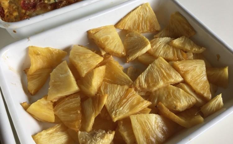 ♡セミドライのパイナップル〜オーブンの有効利用で♪