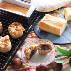 パリパリ生地に包まれた焼きモンブラン&クリーミーなNYチーズケーキ