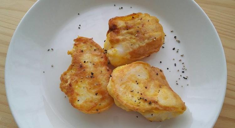 白身魚のカレー&チーズピカタ