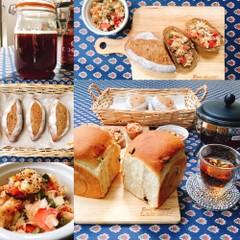地ビール酵母レーズン食パンとマルチブレッド