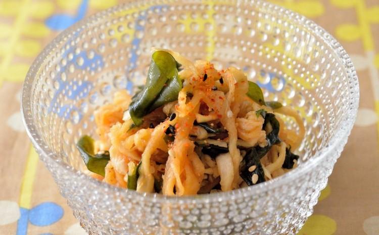 切干大根とわかめの中華サラダ