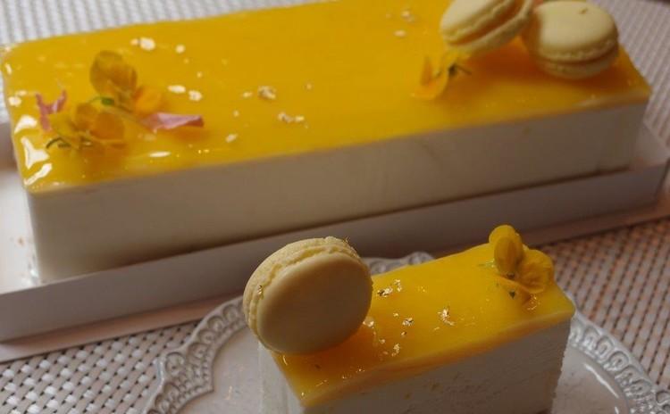 さっぱり爽やかなレモンのチーズケーキとレモンマカロン