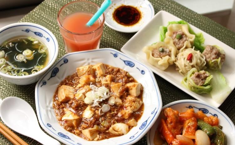 中華の献立を学びましょう!③基本の麻婆豆腐 皮からシュウマイ 黒酢酢豚