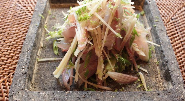 秋刀魚のお刺身 スダチドレッシング