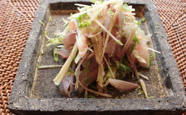 リクエスト!秋刀魚と焼きレモンのご飯とお刺身スダチドレッシング