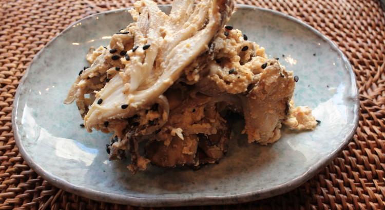 舞茸とキノコの豆腐和え
