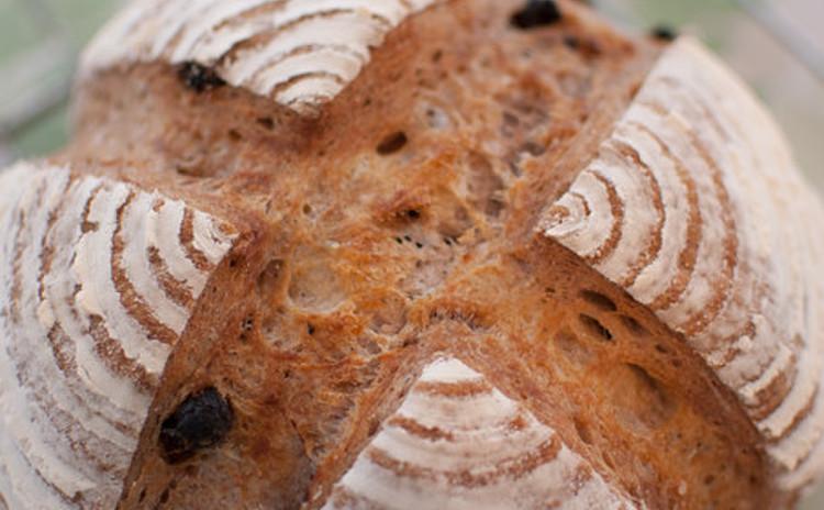 プチフランス、ピザ、胡桃とイチジクのライ麦パン