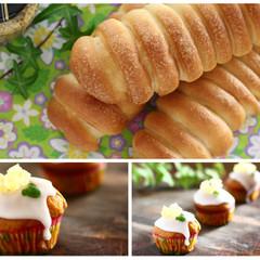 ウィンナーロールとハミングバードカップケーキで祝うオクトーバーフェスト