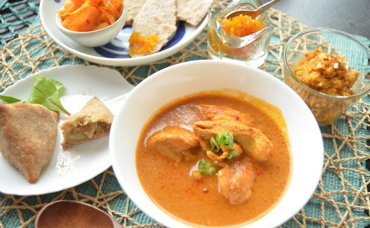 本格的インド料理を乳製品、お砂糖フリーでお家でお手軽に!