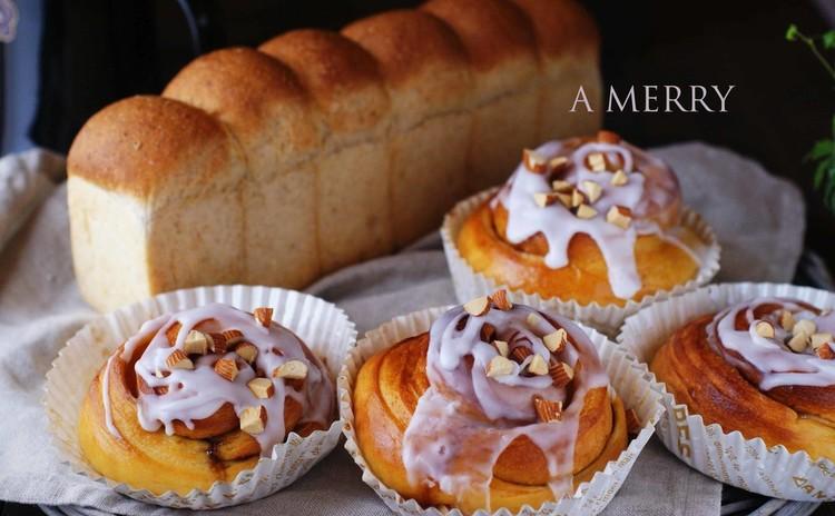【体験レッスン♪】どなたでもOK♡シナモンロール&胚芽とハチミツのパン