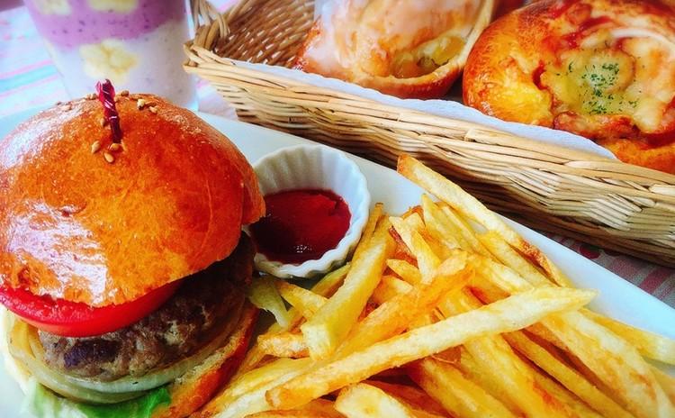 夏休み☆こども☆パン作り「ハンバーガープレート」