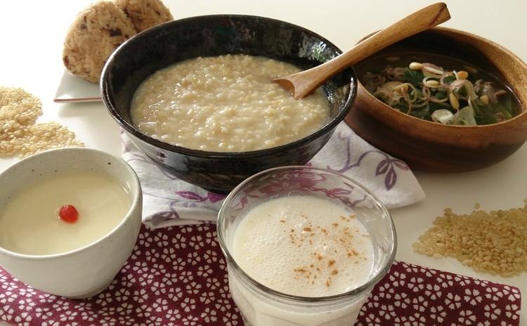 秋の疲れに~発芽玄米の甘酒と活用レシピ&薬膳スタミナスープ