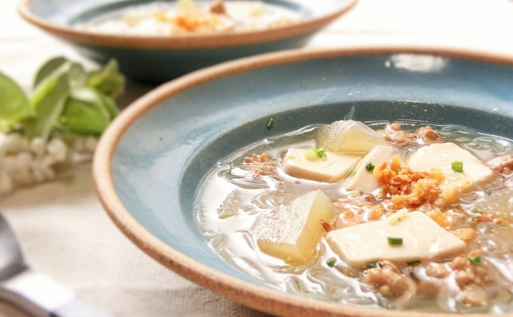豆腐と春雨の冬瓜スープ