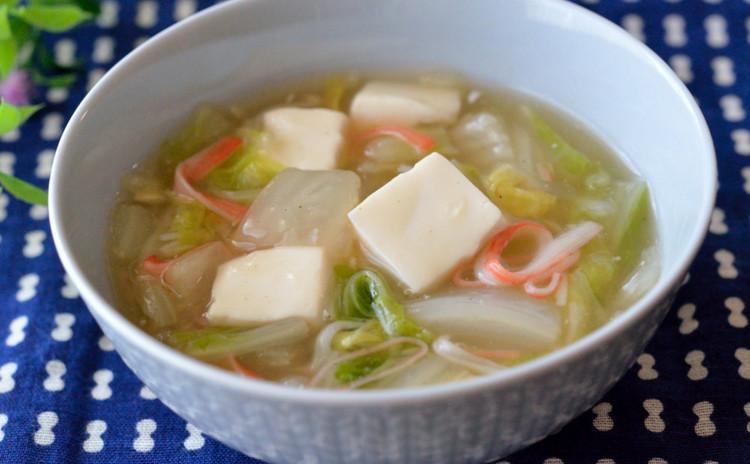 豆腐と白菜の中華あんかけ