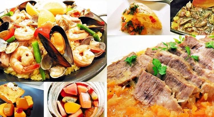 リクエスト企画☆魚介の濃厚パエリア・豚塊オレンジ煮、他✿お土産付