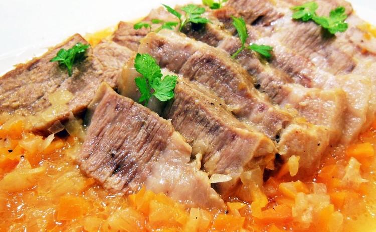 ほろほろ柔らか♪豚塊肉のオレンジ煮