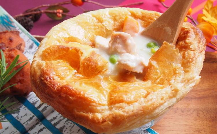 秋鮭、きのこ、さつまいもなど秋食材満載!生地からパイも作りましょう。