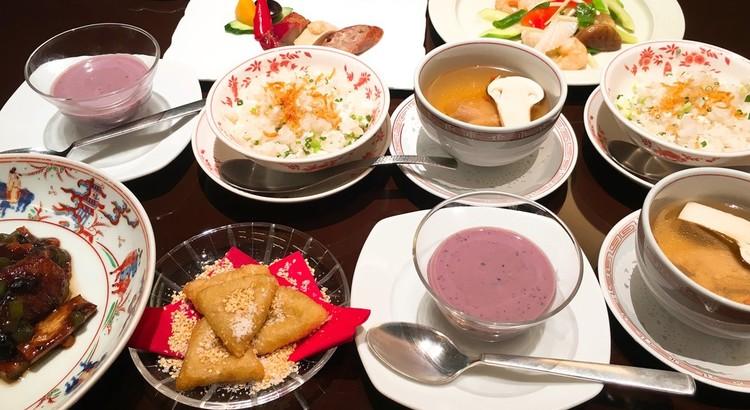 第一回 「黒米と紫芋の特製おしるこ」と「さつま芋の中華揚げ菓子」