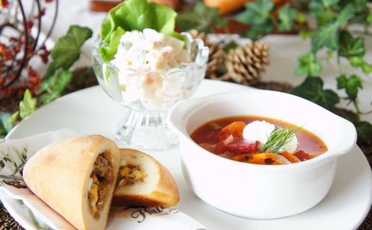 *定番ロシア料理デリご飯*『ピロシキ』&『ボルシチ』