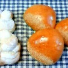洋風マロンあんパン&米粉フラワーパン